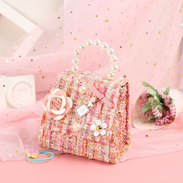 korean kids mini purse 2020 new flower crossbody bags for baby girl small coin wallet pouch box girls party purse hand bag (545394727) photo