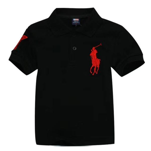 New 2019 children t-shirts wholesale boy girl leisure short sleeve polo kids t-shirt children t shirts 13 colors Free shipping