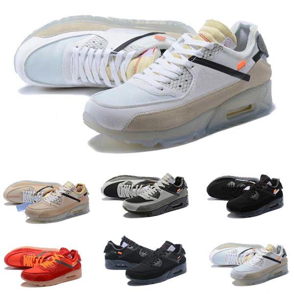 2019 кроссовки кроссовки мужские Man Desert 90 Off Ore Зеленый Теннис Модельеры класса люкс белый 90-х Zapatilla Тренировочная спортивная обувь