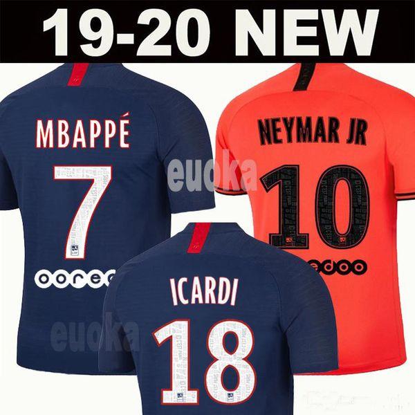 Maillot  de football kit 19 20 p g  occer jer ey 2019 2020 pari  mbappe icardi marquinho  jer ey cami eta  de futbol  hirt men kid   et