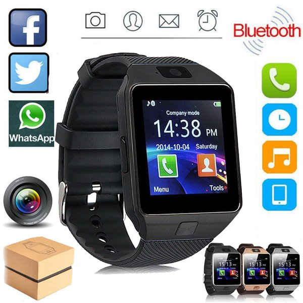 Bluetooth  mart watch dz09 wearable wri t phone watch relogio 2g  im tf card for iphone  am ung android  martphone