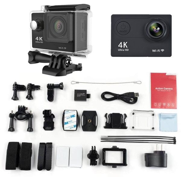 Action sports camera deportiva Original H9 remote Ultra HD WiFi 720P 2.0 LCD 170D sport go waterproof video pro camera