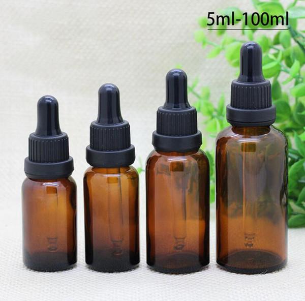 10ml 15ml 20ml 30ml 50ml 100ml empty amber gla   dropper bottle  whole ale e liquid gla   bottle   hipping