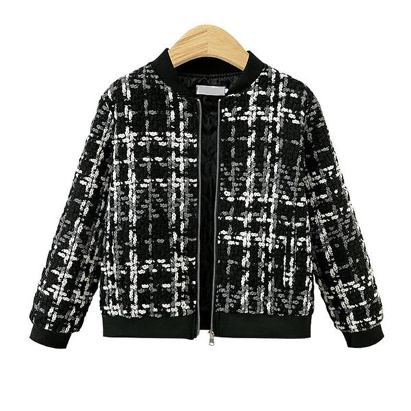 Womens Black Jacket Woolen Short Coat Short Casual Baseball Jackets