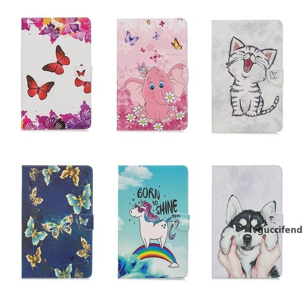 leather wallet case for ipad pro 11 12.9 2020 unicorn flower butterfly dog girl elephant lion cartoon cute lovely holder flip cover purse (562417670) photo