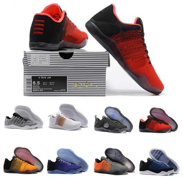 Mamba 11 KB Elite Men Basketball Shoes Bruce Lee FTB White Horse Red Horse Achilles Heel 11s Bryant Sports Sneakers Low Stars 2016 BHM Achil