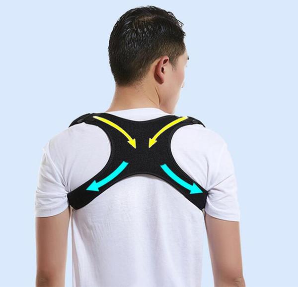 (500pcs/lot)Hot Male Female Adjustable Magnetic Posture Corrector Corset Back Brace Back Belt Lumbar Support Straight Corrector Despalda