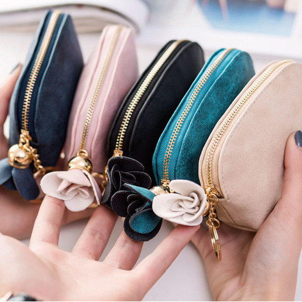 cyber monday 2020 women small key case mini cute wallet money bag holder zip purse clutch handbag for girl kid flower coin pouch (563809689) photo