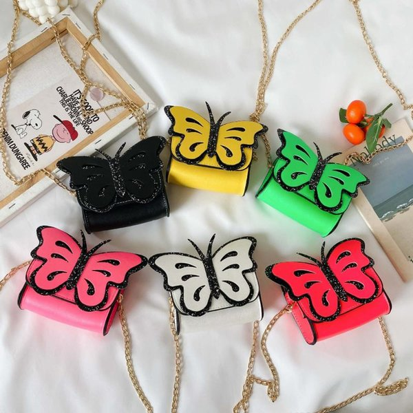 cute kids mini purse 2020 kawaii butterfly little girl small coin wallet pouch bag baby girls party change purse gift (554332397) photo