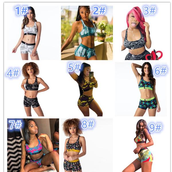 Women Ethika Designer Swimsuit 2Piece Bikini Set Vest Tank Top Bra And Shorts Swimming Suit Luxury Shark Swimwear Brand Beachwear T528
