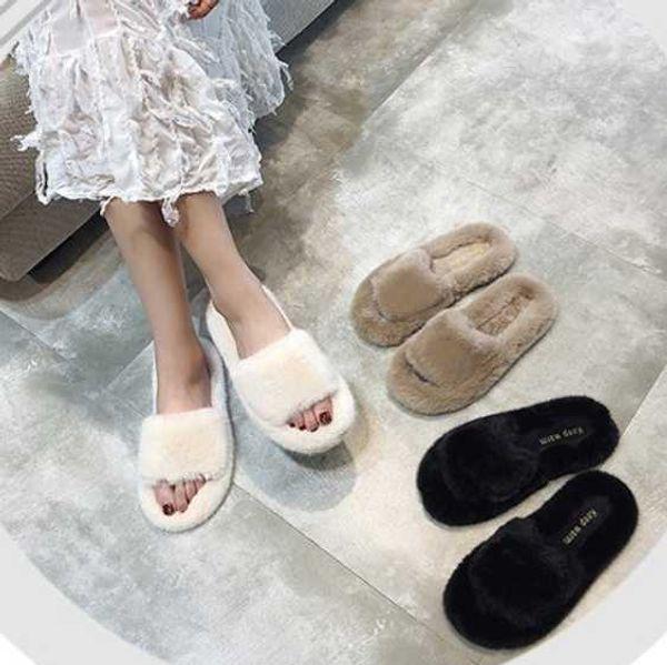 woman slippers slippers women fur furry slides and purse set women sandals klapki damskie luxury shoes (556966589) photo