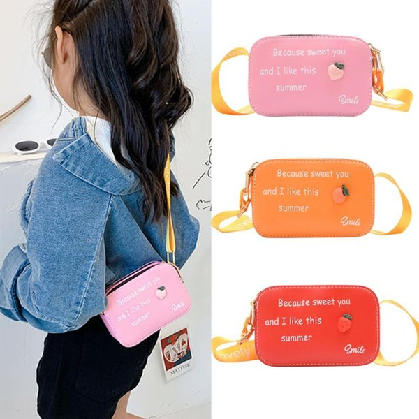 korean little girl mini coin purse 2020 cute candy color leather crossbody bags for kids girl small wallet bag baby change purse (558497491) photo