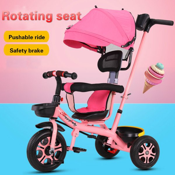 Baby Tricycle 0-6 Years Old Multi-function Baby Rotating Seat Stroller Tricycle Bicycle Children Can Ride Bicycle Trike