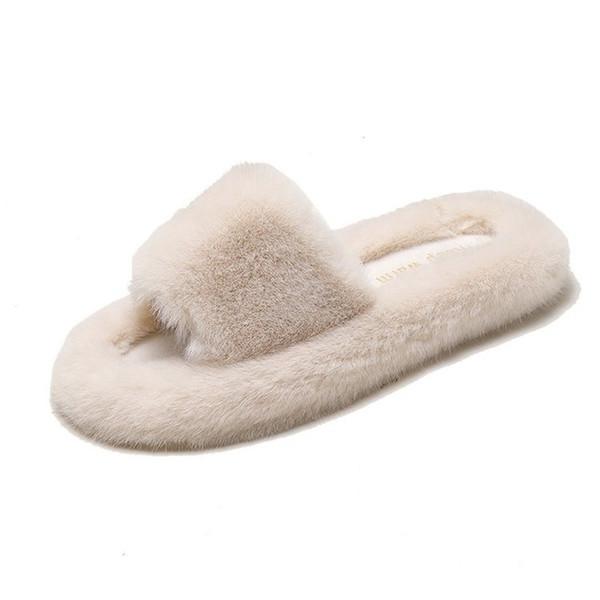 woman slippers women femme pantoufles women shoes pantunflas de mujer de peluches fur slides furry slides and purse set sandals (556215204) photo