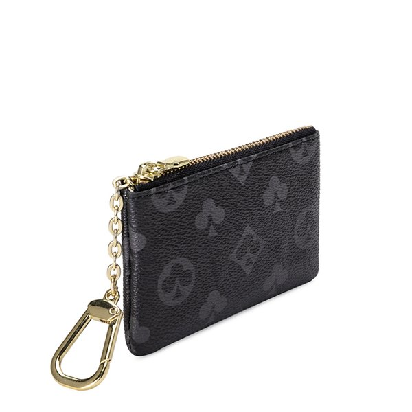mini classical wallet purse designer zipper coin purse leather key bag leather bag keychian coin purse (563120634) photo