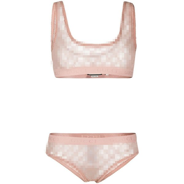 Fashion Luxury G Letter Mesh Lingerie Sexy Womens Breathable Underwears Simple Pnk Girls Bras Sets Ins Hot Home Underclothes