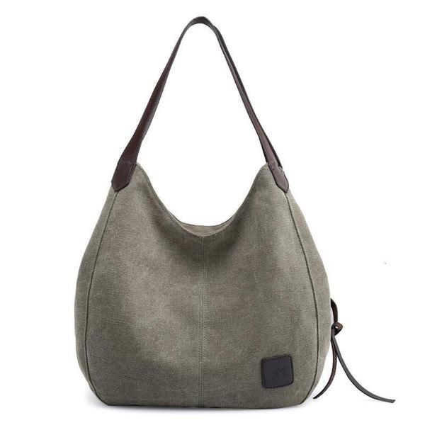 vintage canvas hobo handbag shopping tote shoulder sling bag women purse (580467456) photo