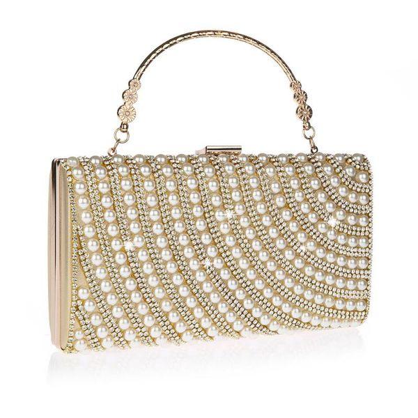 2020 chic luxury pearl rhinestone crystal handbags and purses party banquet wedding dress bag purses evening bag bolsas feminina (578722062) photo