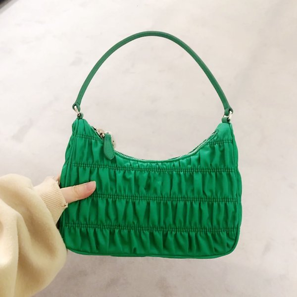 2020 summer new fashion cute pleated hobo shoulder bag purse and handbag for women office daily (589527816) photo