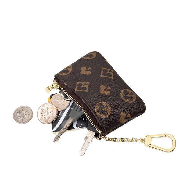 mini classical wallet purse brand designer zipper coin purse leather key bag leather bag keychian purse and wallet coin (577611634) photo