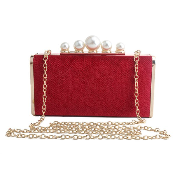 2020 luxury pearl elegant women gold chain evening bags fashion women day clutches purses wedding party evening bags (578722113) photo