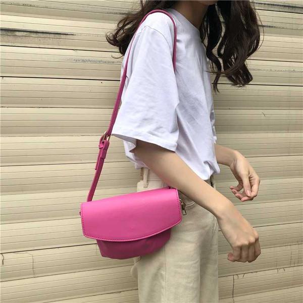 2020 fashion bag women casual handbag pu leather crossbody bag sweet girl candy colors small shoulder purse bolsas feminina (589269852) photo