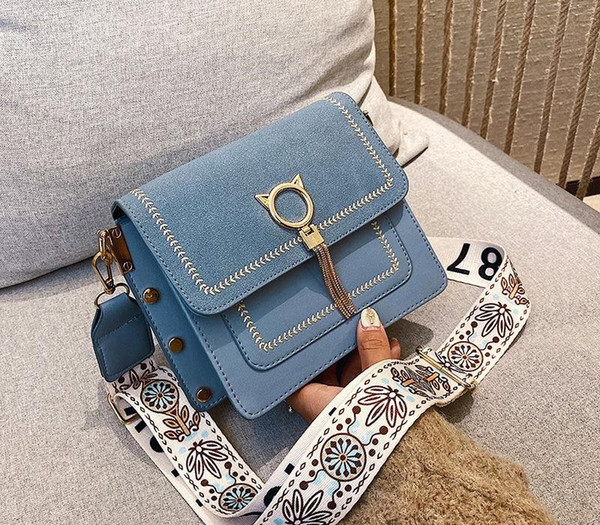 vintage pu leather bags bag unique fringe cat lock famous designer womens handbags purses 2020 new women shoulder crossbody002 (565259445) photo
