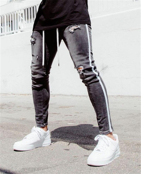 Mens Long Hole Out Skinny Pencil Pants Homme Spring Solid Color Jens Mens Clothing Mens Designer Jeans Fashion Mens Clothing Women Clothing Mens Jeans Pants Hoodies Hiphop,Women Dress,Suits Tracksuits,Ladies Tracksuits Welcome To Our Store