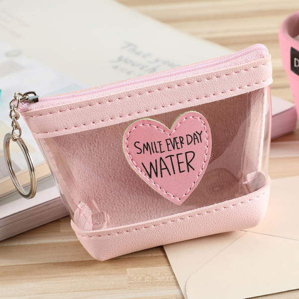 women/girl love letters zipper wallet coin purse pink black card holders handbag package short fashion candy coin purse (577438511) photo