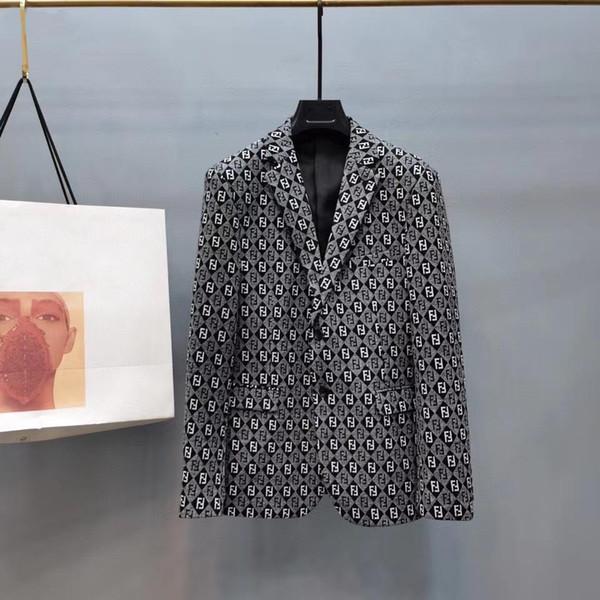 2020 Mens Suits Blazer Italy Paris Mens Casual Jacket Long Sleeve Fashion Jackets Mens Suit Jacket Elegant Wedding Dress M-3XL