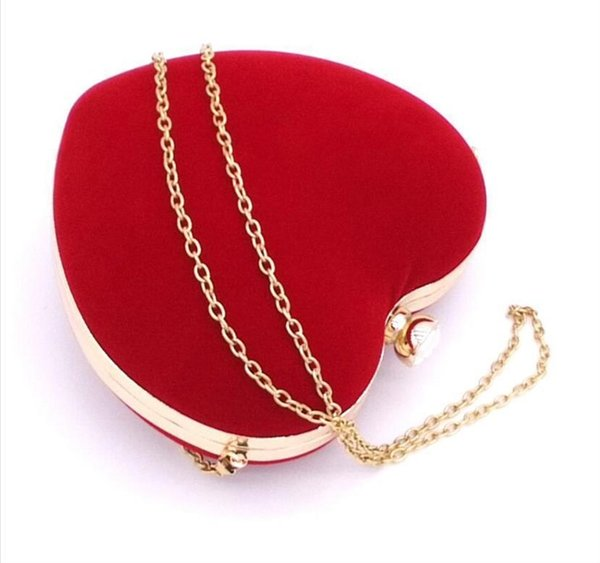 ljl heart shaped diamonds women evening bags shoulder purse day clutches evening bags for party01 (567296686) photo