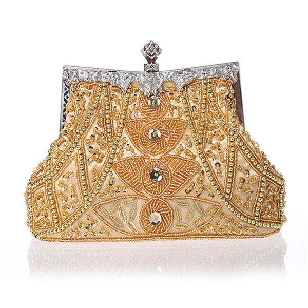 2020 new vintage women evening bags beaded wedding handbags clutch purse bag for wedding day clutches purse evening bags wy37 (575907668) photo
