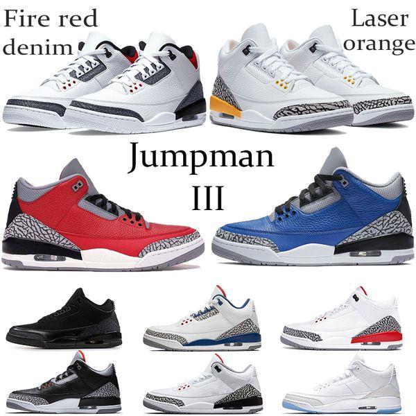 New Fire Red Denim Jumpman OG Basketball shoes laser orange Varsity Royal Knicks Joker Cool Grey court purple Men Running Sneakers 40-47