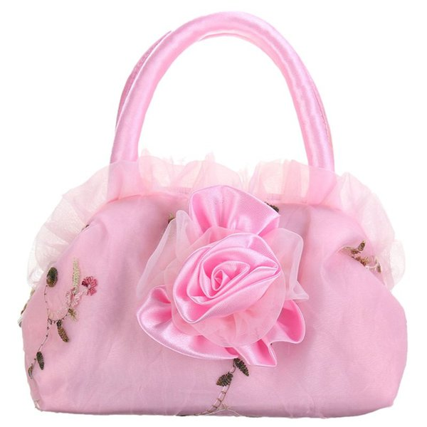 children flower bag handbag purse fashion gift clutch purse tote (566788226) photo