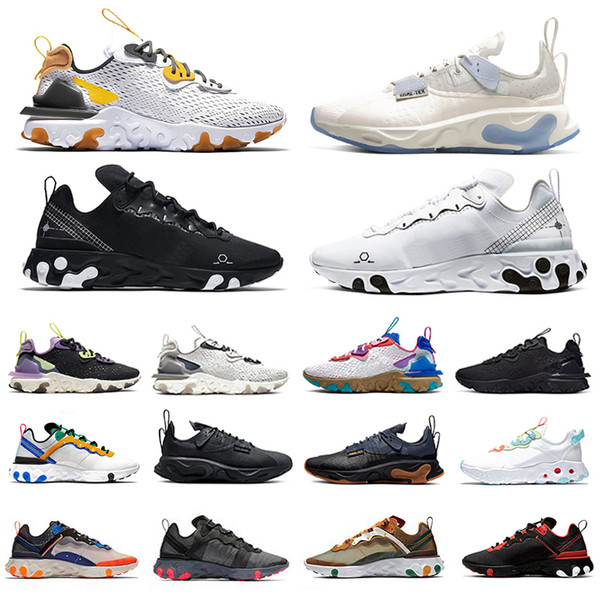 Nike React Vision 2020 Black Iridescent React Vision element 87 55 mens running shoes UNDERCOVER triple white Taped Seams men women sports designers sneakers фото
