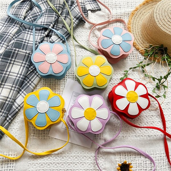 cute girls mini purses 2020 kawaii kids purse and handbag little girl flower small coin wallet pouch toddler money bag purse (576667153) photo