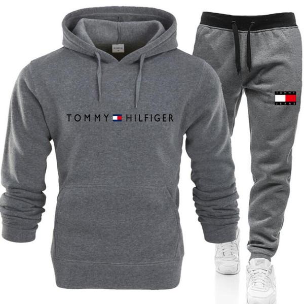 Hot mens 2pcs sweatsuits Tracksuit Man hoodies +pants Mens Clothing Sweatshirt Pullover mens womens Casual Tennis Sport Tracksuit Sweat Suit