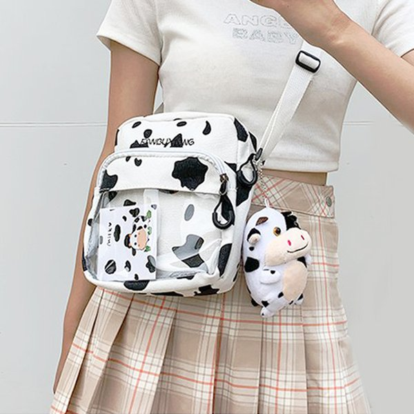 cow print purse mini clear ita shoulder bag girls badges display itabag crossbody bags for women clear pvc pocket purse h235 (567365690) photo