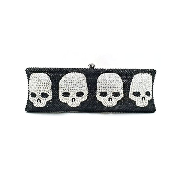 special bridal wedding party purses women evening party diamonds skull full crystal cover clutches purses (587580677) photo