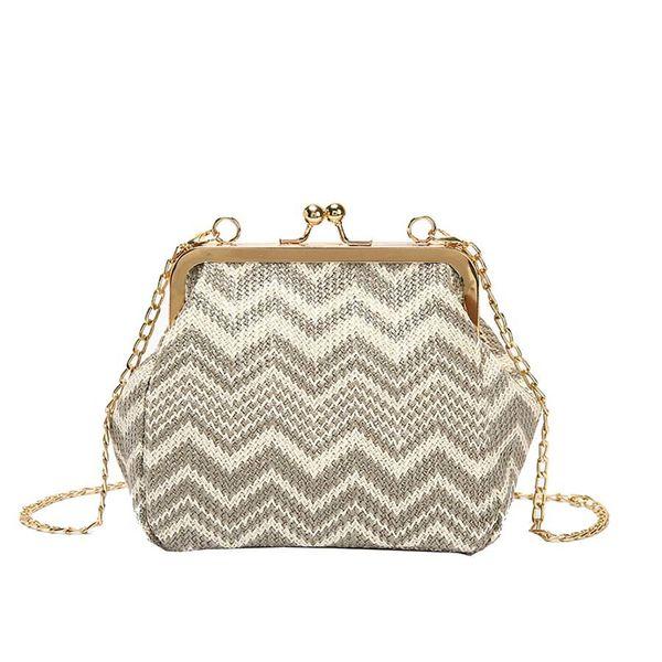 bags purse shoulder handbag tote messenger hobo satchel crossbody ladies rattan straw bag women summer handbags (589512049) photo