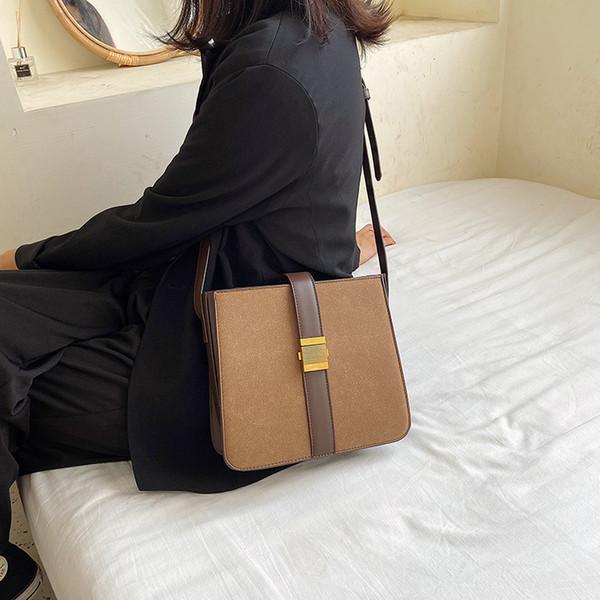 2020 new solid color shoulder bag shoulder messenger bag pu small purse purses and handbags purses (583072730) photo