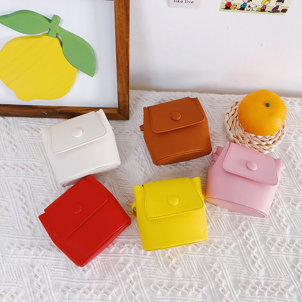 girls mini purses 2020 kawaii little girl small leather coin wallet pouch candy color toddler money purse baby messenger bag (585109599) photo