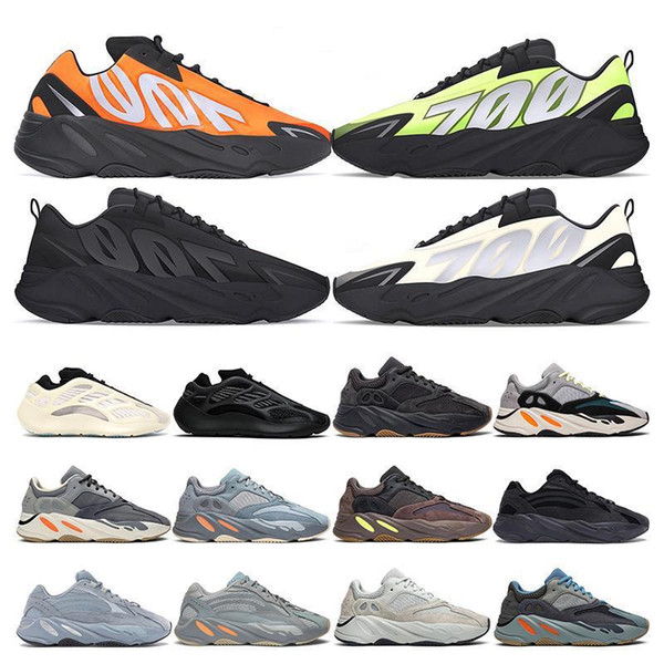 2020 kanye 700 mens sneakers running shoes Azael Alvah Utility Black Wave Runner Vanta MNVN Phosphor Orange Bone womens sports fashion Kvn