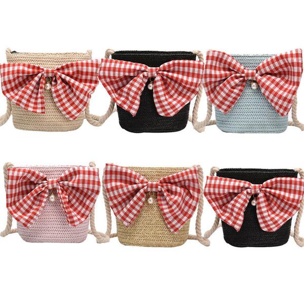 women bowknot shoulder bags lady messenger bag tote satchel purse (584387515) photo