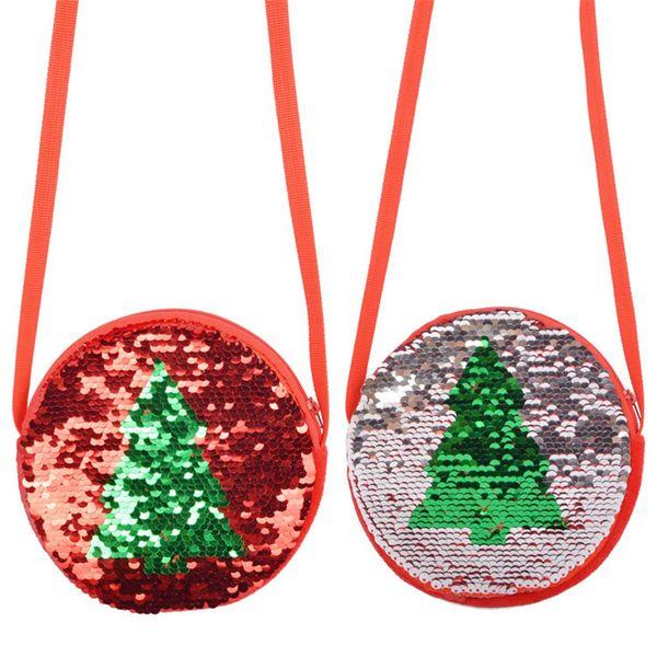 christmas tree cute mini bag women girls sequins coin purse wallet mini messenger bag handbags gift for kids girl boy candy (585204587) photo