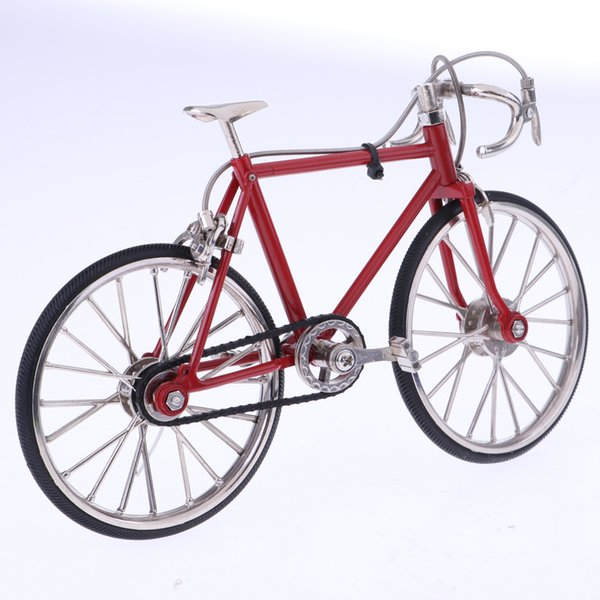 1:10 Scale Alloy Racing Bicycle Dollhouse Miniatures Diy Model Furniture Garden Decoration Accessories Red