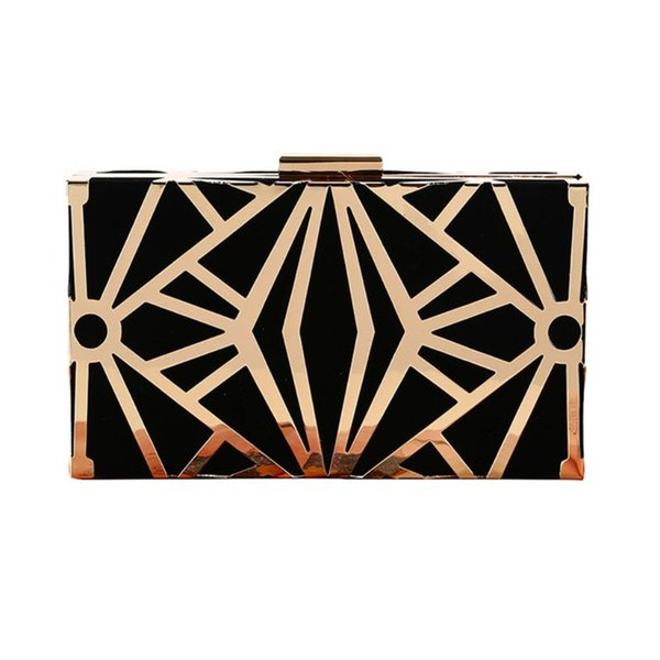geometric geometric women clutch bag box evening party bags chain shoulder purse evening bag for new year christmas gift purses (588236491) photo