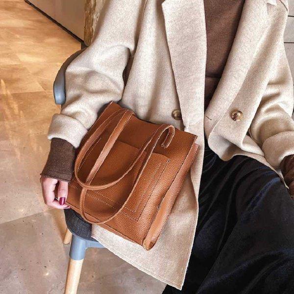 2020 new shoulder bag women messenger bucket bag pu women purses handbag purses and handbags (583015007) photo