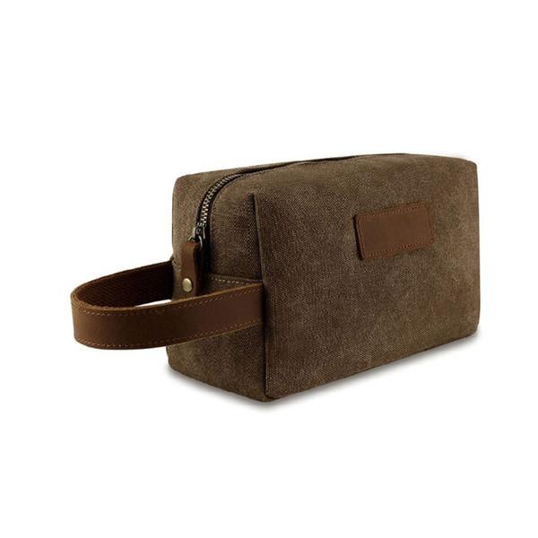 travel makeup bag canvas cosmetic pouch mini coin purse handbag casual purse storage organizer (585118156) photo