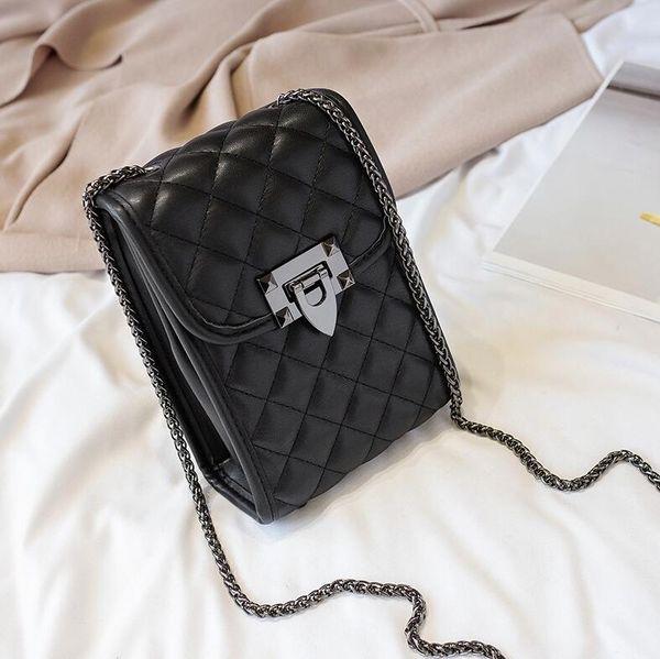 handbags purses wholesale women shoulder bags crossbody mini phone bag diamond lattice chain bag (584728210) photo